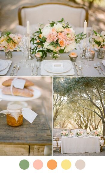 a French Wedding Colors