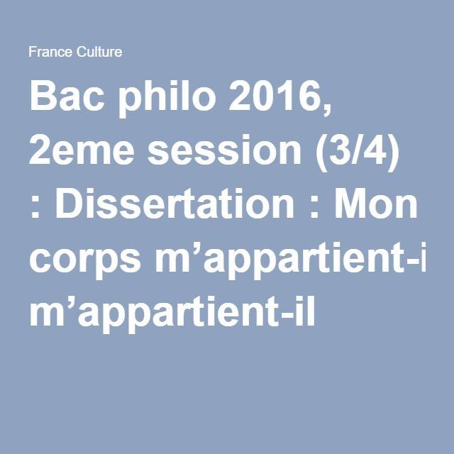 Dissertation en philosophie stg