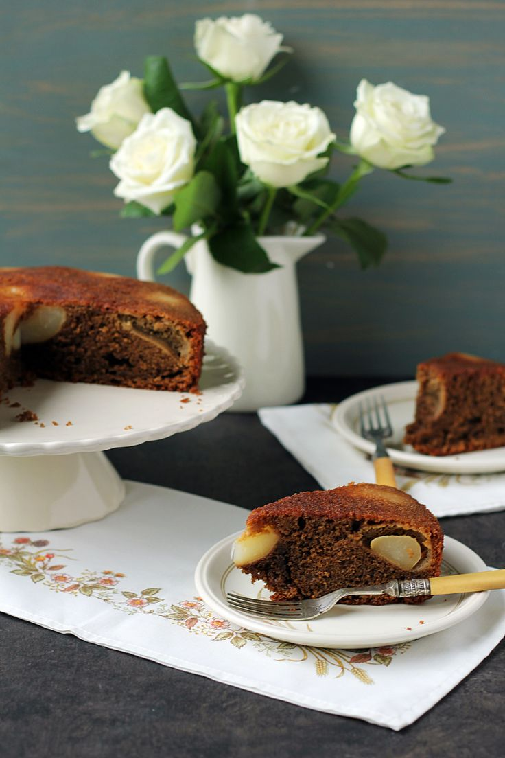 coffee and pear cake