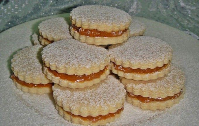 Křehké sušenky s kondenzovaným mlékem