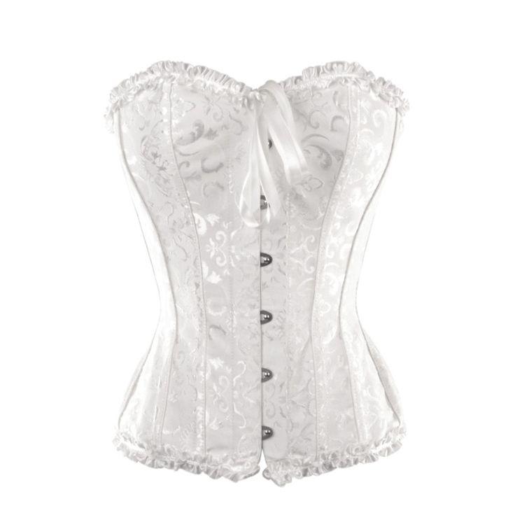 Beautiful white bridal steel boned corset to be for Steel boned corset wedding dress