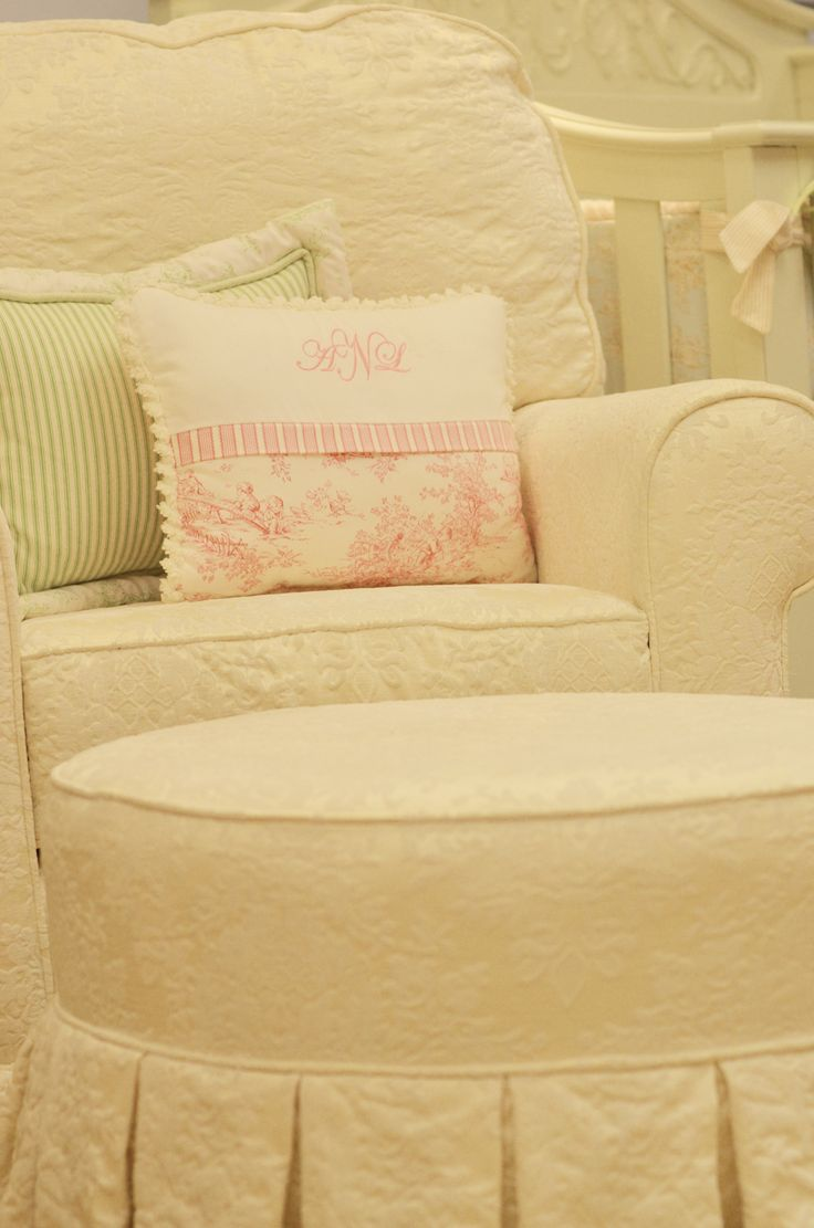 Little castle transition white leather swivel glider - Nursery Glider In Beautiful Cream Fabric From Doodlefishkids Com