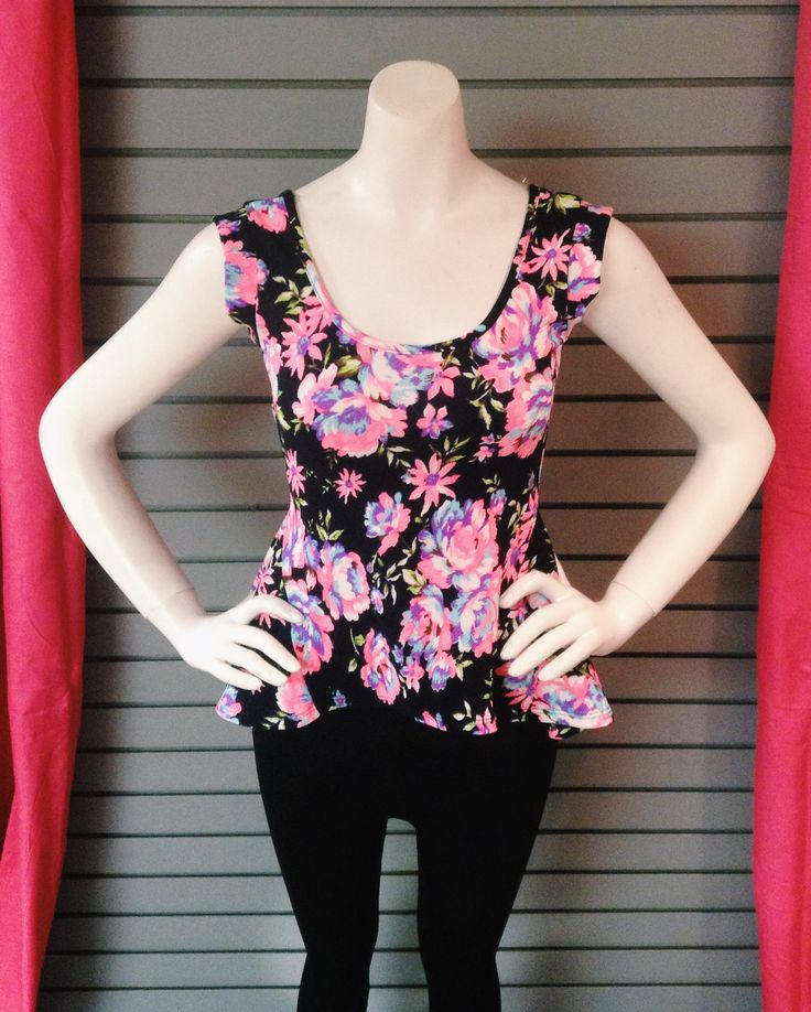 Floral peplum. Pair this with tons of gold accessories!