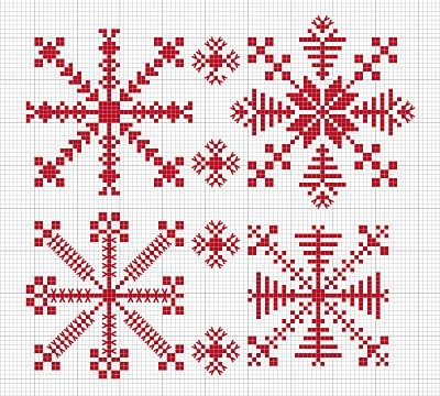 N e e d l e p r i n t: Estonian Snowflakes - Free Download