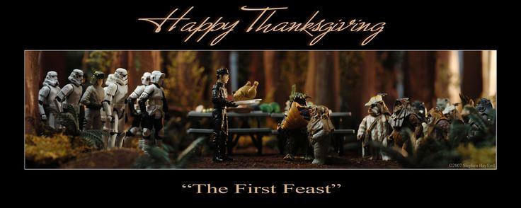 Happy Thanksgiving (especially will delight StarWars fans)