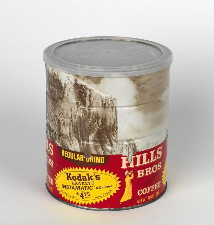 (ANSEL ADAMS) Hills Brothers coffee can, with a wraparound i