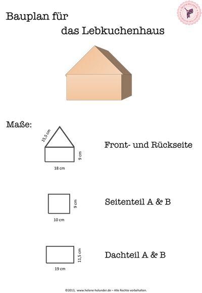 Vorlage für ein Lebkuchenhaus und andere interessante Rezepte / Template for German 'Lebkuchen' house