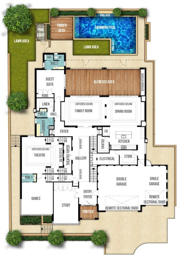 The 25+ Best Double Storey House Plans Ideas On Pinterest | Double Storey  House, 2 Storey House And House Plans 2 Storey