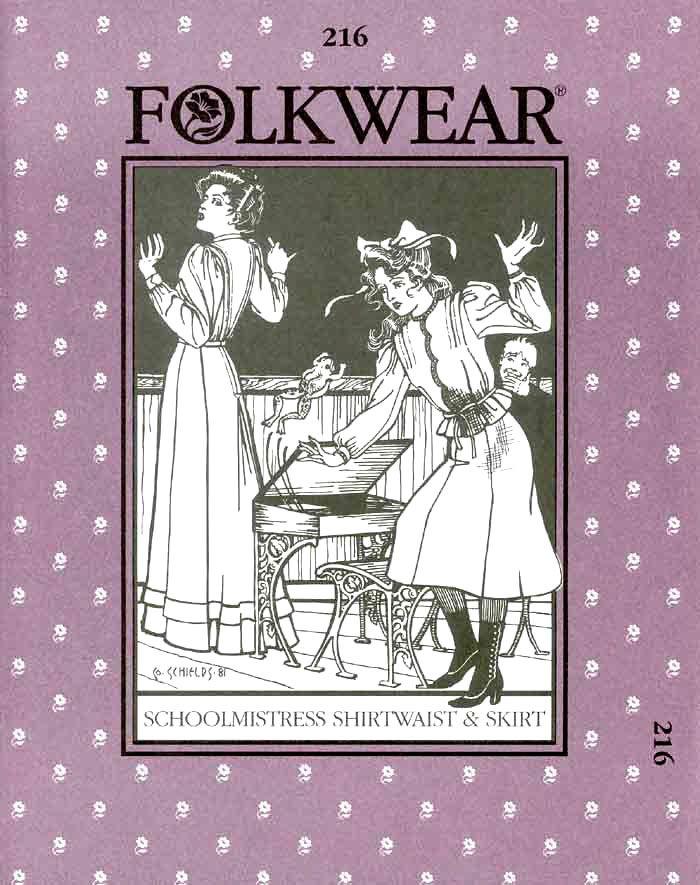 Patterns - Folkwear #216 Schoolmistress' Shirtwaist & Skirt
