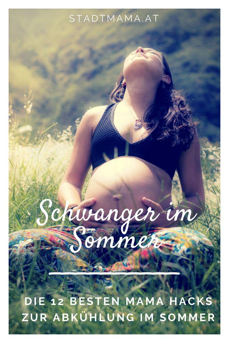 Schwanger im Sommer? Heute habe ich die 12 besten Life Hacks für eure Schwangerscahft im Sommer für euch. Tipps gegen Wasser in den Beinen, niedrigen Blutdruck, zur Abkühlung und andere typische Schwangerschaftsbeschwerden. (Schwangerschaft, Pregnancy Hacks, Schwangerschaft Tipps)