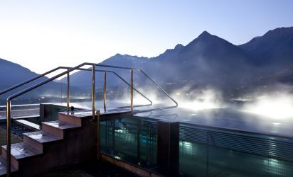 Spectacular roof terrace with brine bath and 360° view