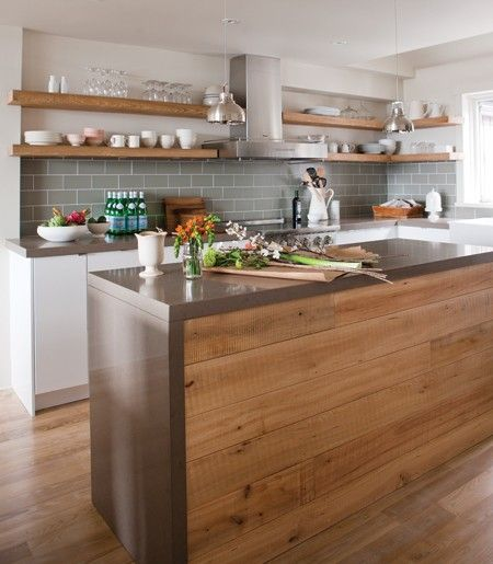 Une cuisine rustique aux lignes modernes