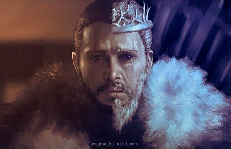"""But you, Lord Snow, you will be fighting their wars forever."" Lets hope King Jon Snow lives long enough to actually become the White Wolf."