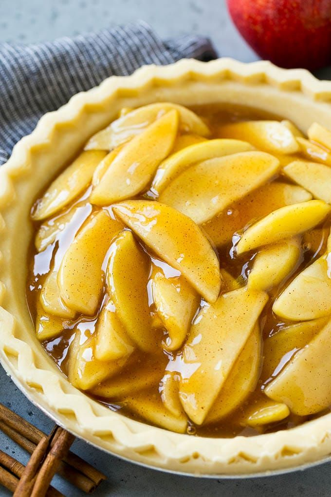 This homemade apple pie filling is made with sliced Granny