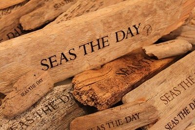 - Driftwood- put a bowl of inspirational sayings-or coffee related...on your coffee table at Coastal Grounds!