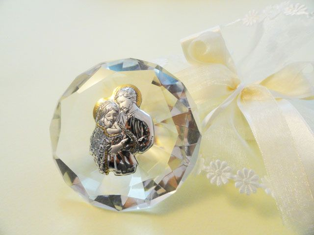 Diamante di cristallo SACRA FAMIGLIA (9027) su ArtigianoCreativo.com compri Bomboniere comunione e bomboniere cresima originali al miglior prezzo!