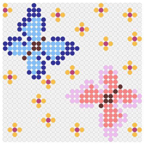 Butterflies in Spring Perler Bead Pattern