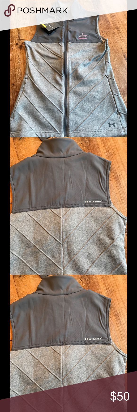 Women's Under Armour storm1 waterproof vest. NWT Under Armour Vest. Great to use for platform, tennis or golf. Water-resistant. Women's sz small. Under Armour Jackets & Coats Vests