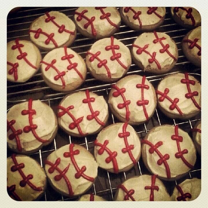 Baseball cookies.
