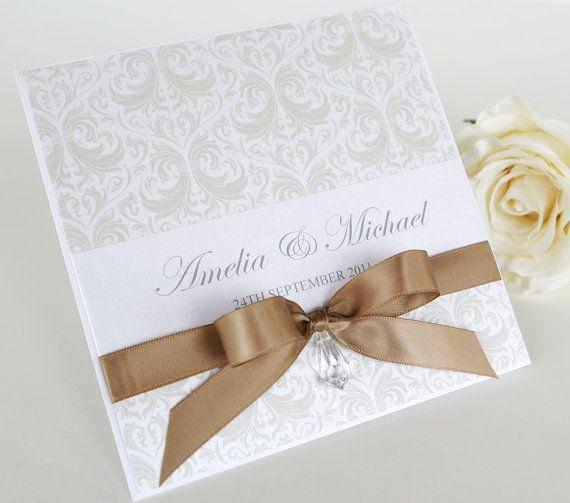 Wedding invitation, Handmade invite, stationery, card, the Destiny.