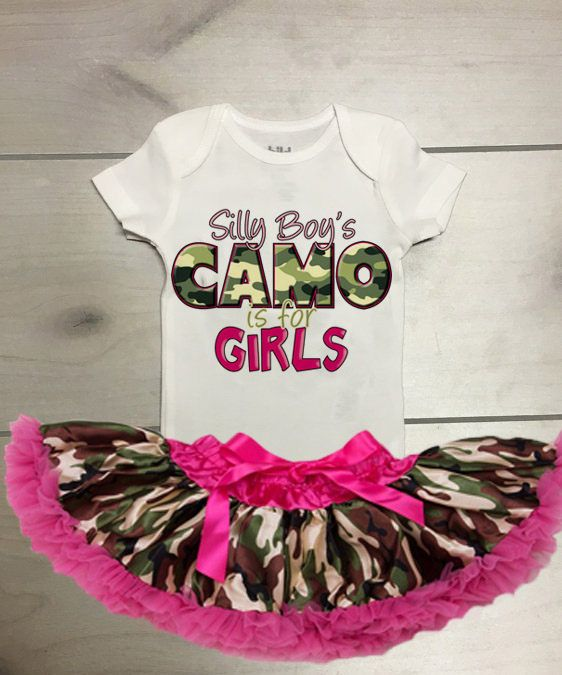 Silly Boys CAMO is for Girls Tutu Outfit Camo Tutu Outfit