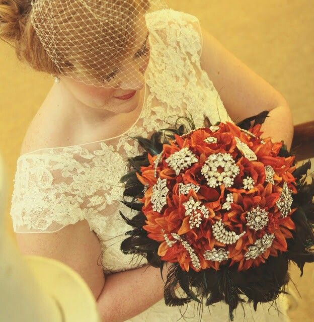 I made my own brooch bouquet