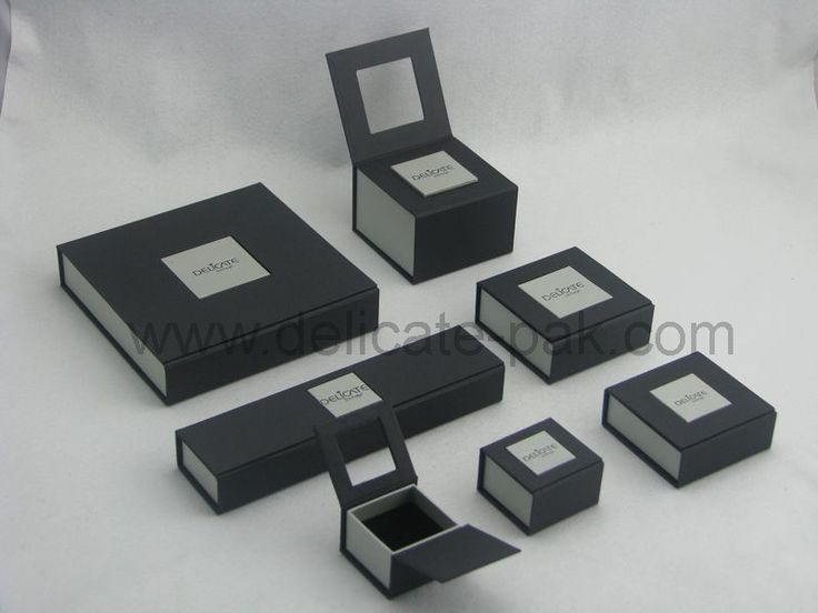Jewellery packaging. Like the small open box with 'window'
