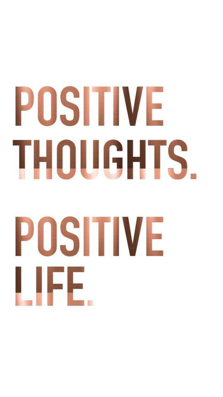 Pensamentos positivos. Vida positiva.