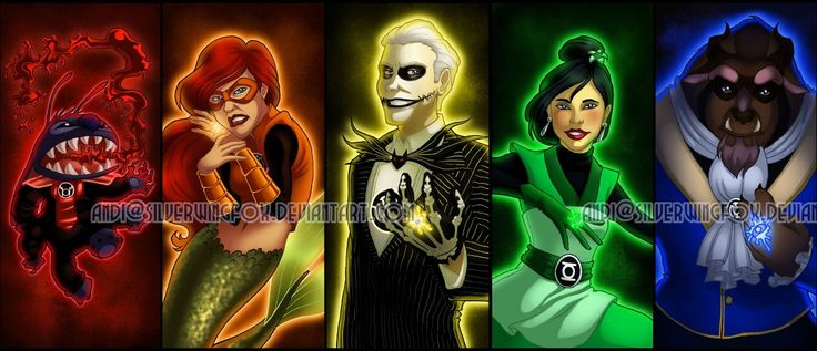 Green Disney Characters The Disney Lantern Cor...