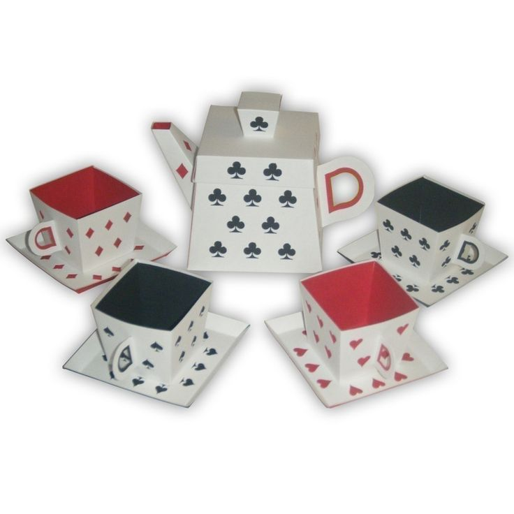 Alice in Wonderland  Playing Cards Inspired Tea Party Set (custom colors available). $19.30, via Etsy.