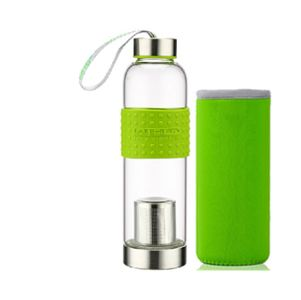 Sports Glass Bottle Infuser 550ml A classy 550 ml sports Glass tea infuser bottle is perfect for taking with you in your busy life. Stay hydrated with our cool Glass Travel tea Infuser!