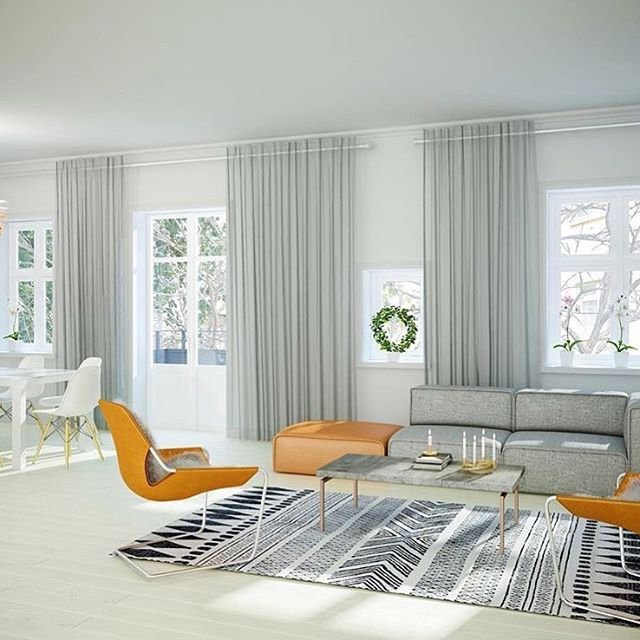 Another gorgeous apartment in Sweden with our Carmo sofa - this one in a grey…