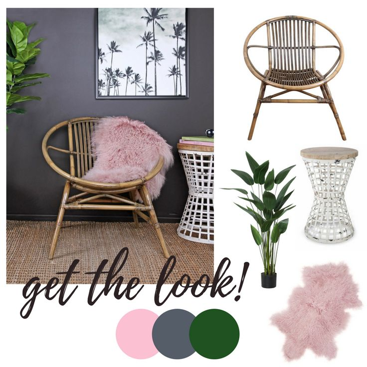 This is a style that screams classic bohemian with a feminine twist. Don't doubt to combine our sixties chair and that pink rug. I'm in love. 💕  #Vast #TheMomentMakers #VastInterior
