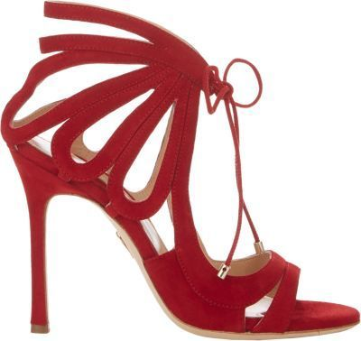 $625, Red Suede Heeled Sandals: Chelsea Paris Ada Strappy Sandals Red. Sold by Barneys New York.
