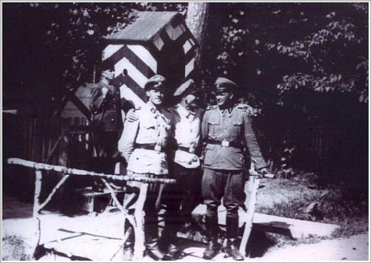 Josef Kaspar Oberhauser, Fritz Jirmann, and Kurt Franz at Belzec.