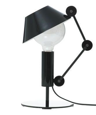 Tischleuchte Mr. Light short, H 36 cm - glänzend schwarz / Innenseite des…