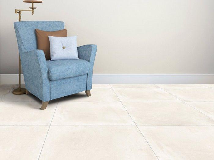District White Floor Tile