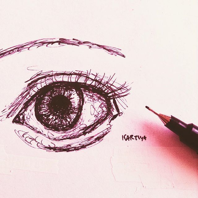 I Found This While Looking Through My Art Journal I Think It Looks Quite Nice Thanks Eye Drawings Art Fineliner Eye Art Realistic Drawings Art