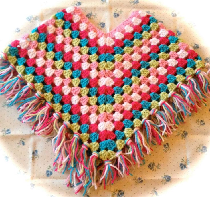 Vistoso Patrón De Crochet Para Niño Poncho Fotos - Manta de Tejer ...