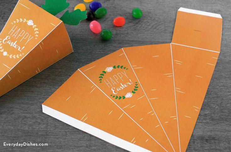 Easter printable carrot treat box