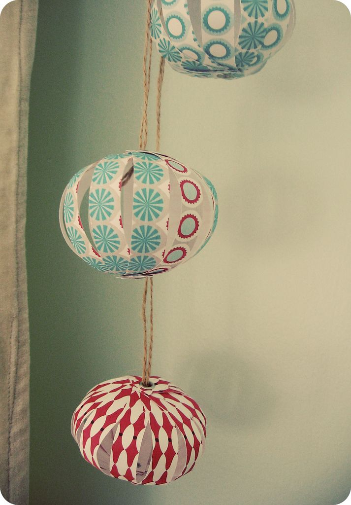 paper globes. I've seen these for years, if not decades, but I'm not sure I've seen them made with striped paper. Best.
