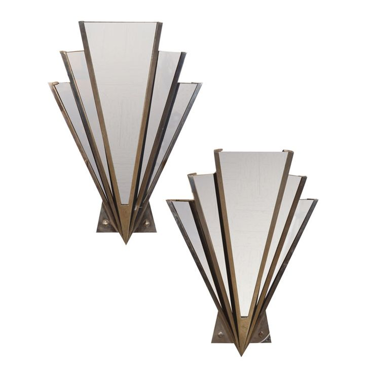Art Deco mirrored sconce