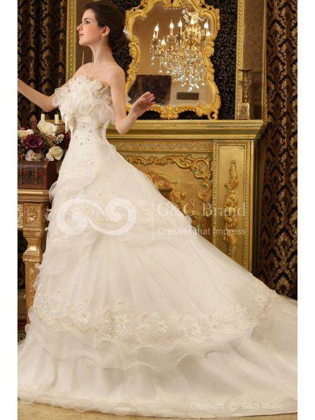 I nostri abiti da sposa d'epoca sono disponibili in vari tessuti come il pizzo, organza, raso e molti altri. Sono tutti comodi da indossare materiali. Ora sono tutti disponibili a prezzi accessibili, è possibile acquistarne uno a prezzo conveniente qui. Optare per un bellissimo abito vintage da EhomeDress a brillare in mezzo alla folla il vostro giorno speciale. http://www.abitit.com/16176-vintage-fiocco-organza-abito-da-sposa-in-pizzo-ggwd100183.html