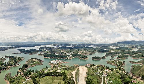 Panorama View of Guatape, Colombia