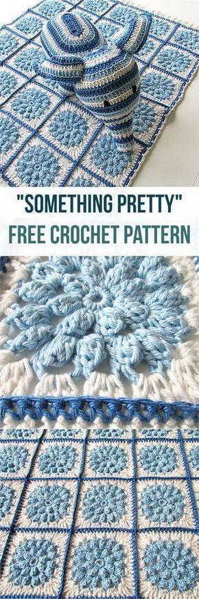 Something Pretty [Free Crochet Pattern] Adorable crochet pattern & stunning crochet blanket @Claire-clutterbug #crochet #blanket #crochetlove #crochetblankets #crochetpatterns