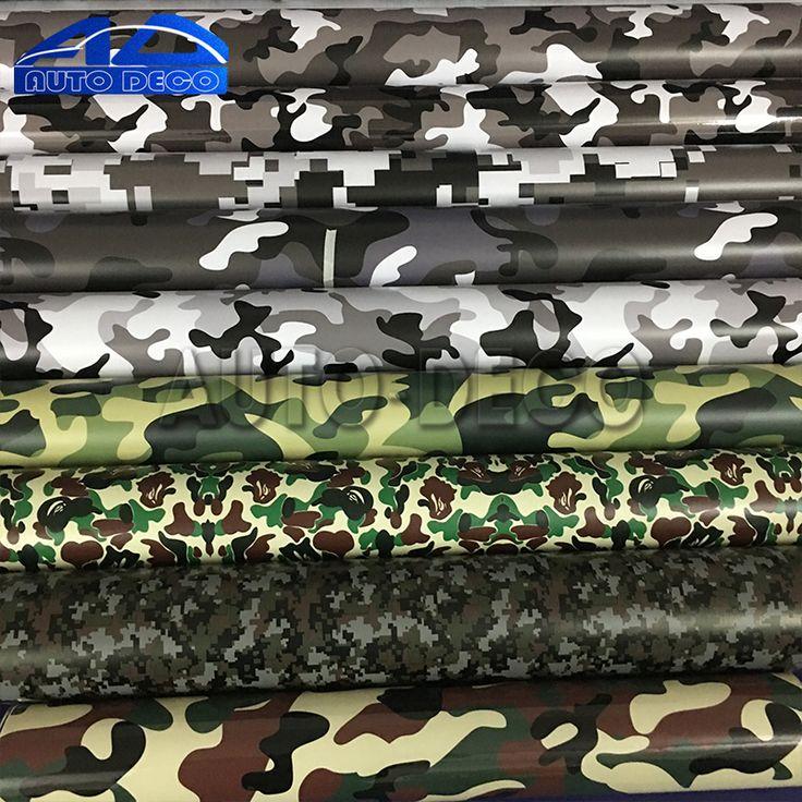 Lebih dari 10 Jenis Camo Vinyl Wrap Mobil Motor Decal Cermin Telepon Laptop DIY Styling Kamuflase Stiker Film Lembar