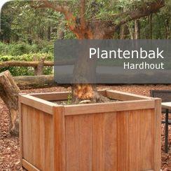 Hardhouten plantenbak, Te koop in onze webshop. Prijzen altijd minimaal 5% onder advies prijzen.   http://www.hettuinleven.com/c-2129443/hardhout/