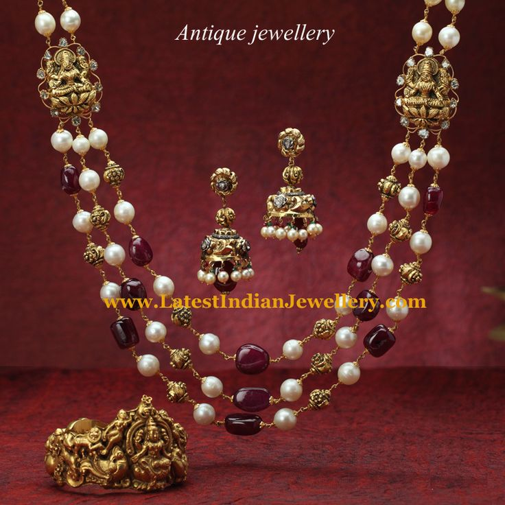 Antique Nakshi and Beads Jewellery   Latest Indian Jewellery Designs
