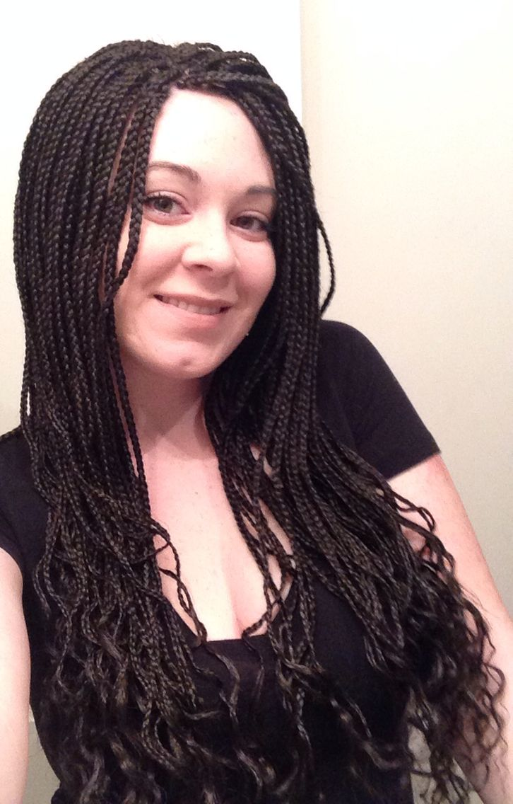 White girl braids microbraids micro braids box braids poetic justice short hair extension ideas