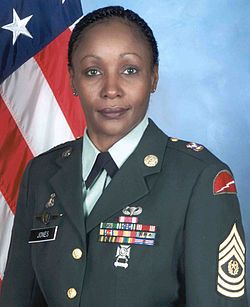 Fayetteville State alum, Michele S. Jones was the first woman in the United States Army Reserve to reach the position of command sergeant major of the U.S. Army Reserve.